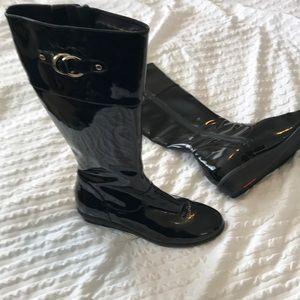 Black Cole Haan Rain Boots